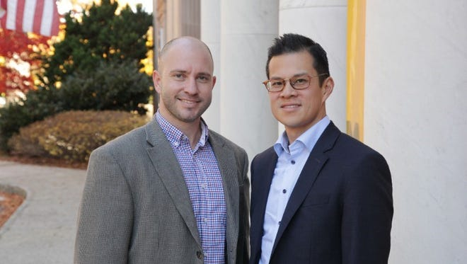 Montclair Orchestra President Andre Weker, left, and Music Director David Chan, right. The MO's second season begins Sunday.
