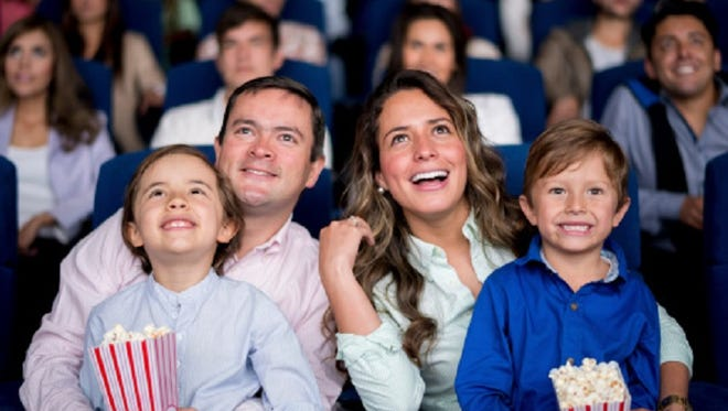 Family at the cinema