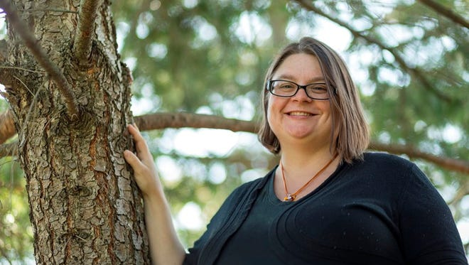 """Forestry Asset Manager Tiffany Giacobazzi said she loves """"helping people realize their forest is the tree standing in their yard or in their community park."""""""