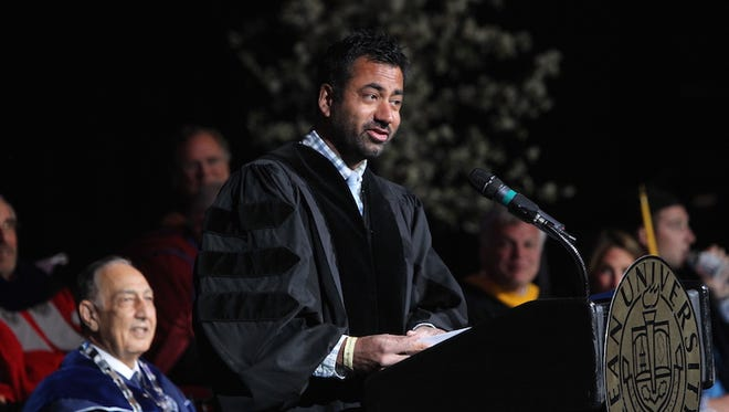 Kal Penn, 'Designated Survivor 'actor and former Obama administration White House staffer, gave the Commencement Address at Kean University's Undergraduate Commencement at the Prudential Center in Newark on May 18.