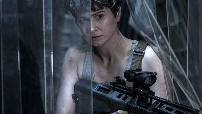 "Katherine Waterston makes like Sigourney Weaver in ""Alien: Covenant."""