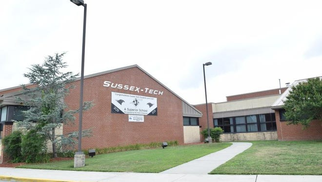 Sussex Technical High School is shown. Teachers and staff have called upon five school board members to resign their positions and take responsibility for ethical and financial missteps detailed in a 2017 audit.