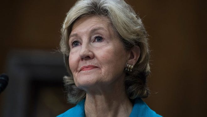 Former Sen. Kay Bailey Hutchison, R-Texas, nominee to be U.S. ambassador to NATO, attends her Senate Foreign Relations Committee confirmation hearing in Dirksen Building on July 20, 2017.