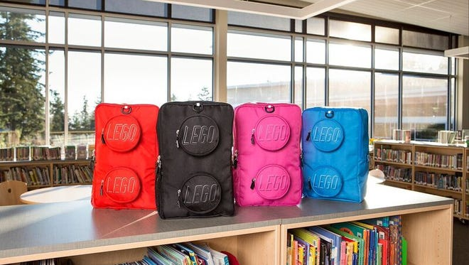 Lego branded backpacks are being made with sustainable materials, tapping into growing back to school demand for eco conscious clothing and products.