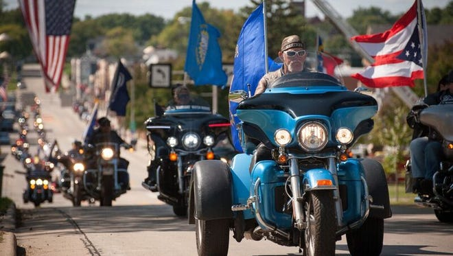 About 500 motorcyclists rolled into Beaver Dam on Saturday for the last stage of the 2017 Patriot Tour. The 14,000-mile, cross-country tour is expected to raise at least $200,000 for wounded veterans.