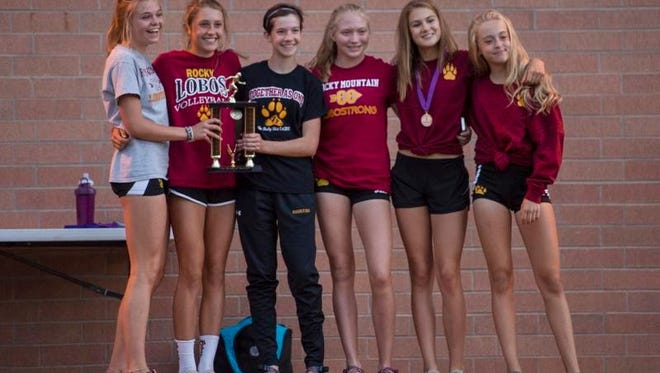 The Rocky Mountain High School girls team won Division I team title at Friday's John Martin Invitational cross country meet at Fort Collins High School.