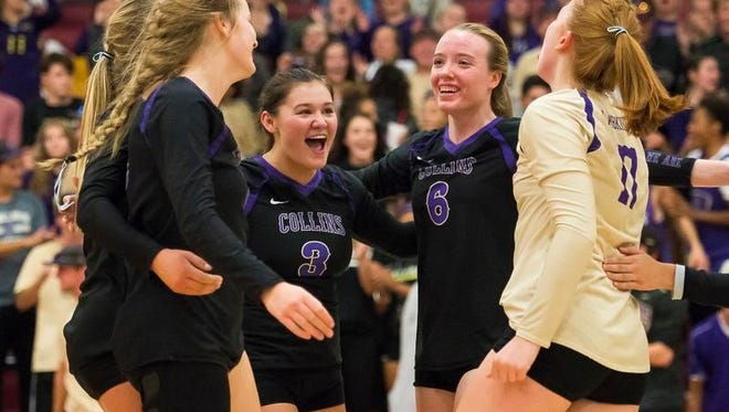 The Fort Collins High School volleyball team beat rival Rocky Mountain 3-0 on Tuesday at Rocky Mountain.