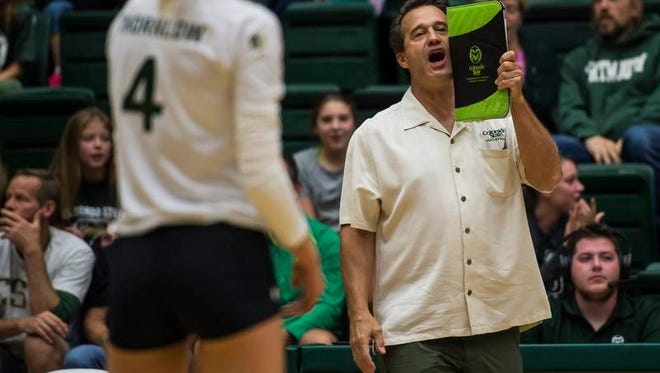 CSU volleyball coach Tom Hilbert and his Rams enter Mountain Westt play at 7 p.m. Friday at Moby Arena.