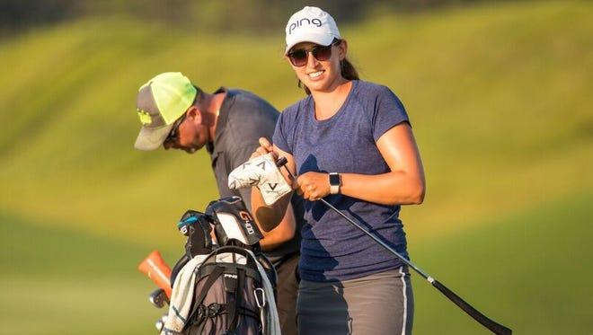 Elizabeth Szokol shot a 9-under 63 Friday to lead the Symetra Guardian Championship at Robert Trent Jones Golf Trail in Prattville.