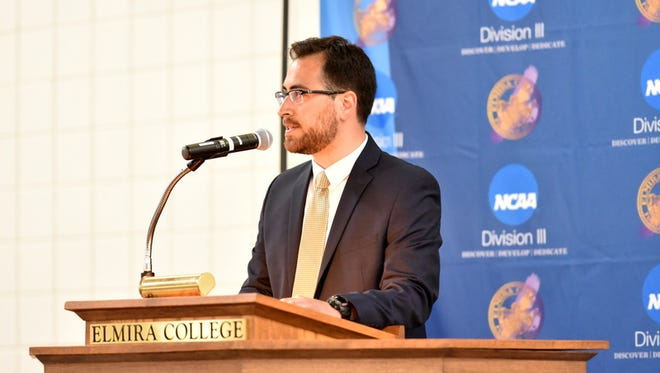 Elmira native Don Sherman has been promoted after serving as Elmira College's director of sports information since 2013.