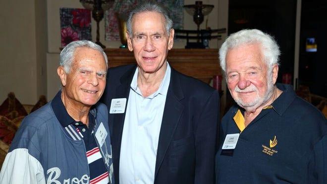 L to R    Jim Borax, Art Shamsky, Lewis Rosenberg