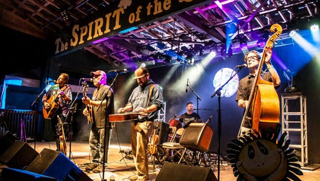 The band known as The Grass Is Dead is one of the many acts performing during the four-day Suwannee Spring Reunion near Live Oak.