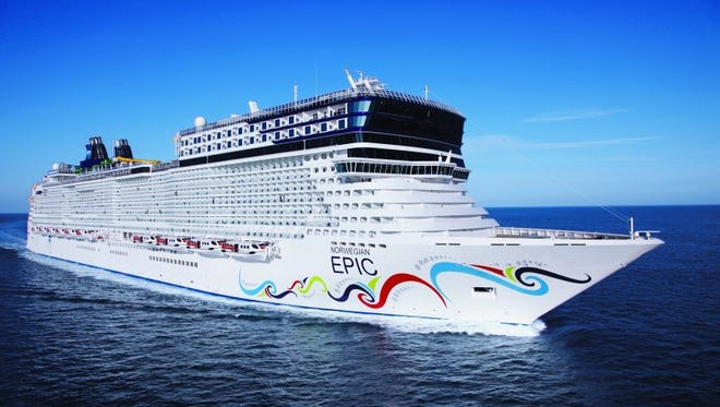13. Norwegian Epic. Unveiled in 2010, this one-off Norwegian Cruise Line ship measures 155,873 tons.