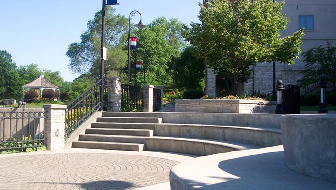 The Menomonee Falls beer garden will move from Centennial Plaza to Mill Pond Plaza (pictured) because of road construction planned this summer.