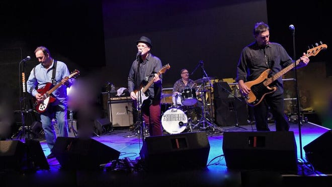 The Smithereens, from left, lead guitarist Jim Babjak, guest vocalist Marshall Crenshaw, drummer Dennis Diken, and bassist Mike Mesaros.
