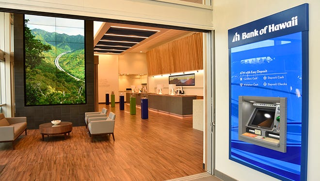 """The new Bank of Hawaii branch in Tamuning will follow the bank's """"Branch of Tomorrow"""" design concept."""