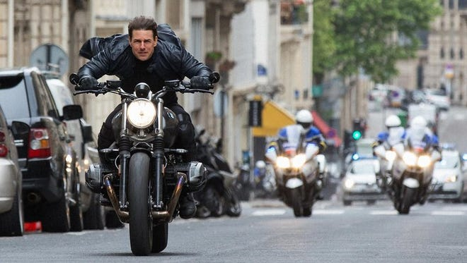 """Tom Cruise pays super-spy  Ethan Hunt in """"Mission Impossible - Fallout,"""" opening Friday."""