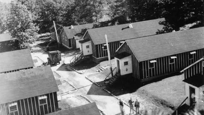 Pictured is Camp Lyndhurst, which housed German prisoners of war during World War II.