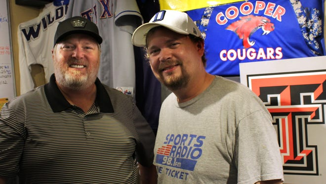"Trace Michaels, left, and Matt McGraw have been hosts of the ""Morning Sports Page"" for 25 months. Their last sports talk shows are Thursday and Friday."