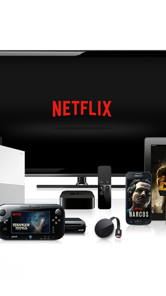 TV streaming service Netflix is available on a variety