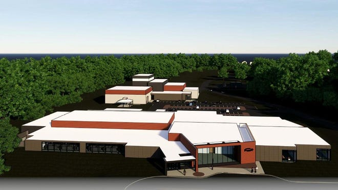 Rendering of Central Hudson's future multimillion-dollar electricity distribution primary control center and training academy, which the utility company plans to build in the Town of Ulster.