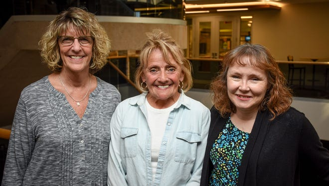 Terra State Community College honored its staff members including 25-Year Service Awards for, from left, Ann Schabel, Connie Reineck, and Pamella Aldrich.