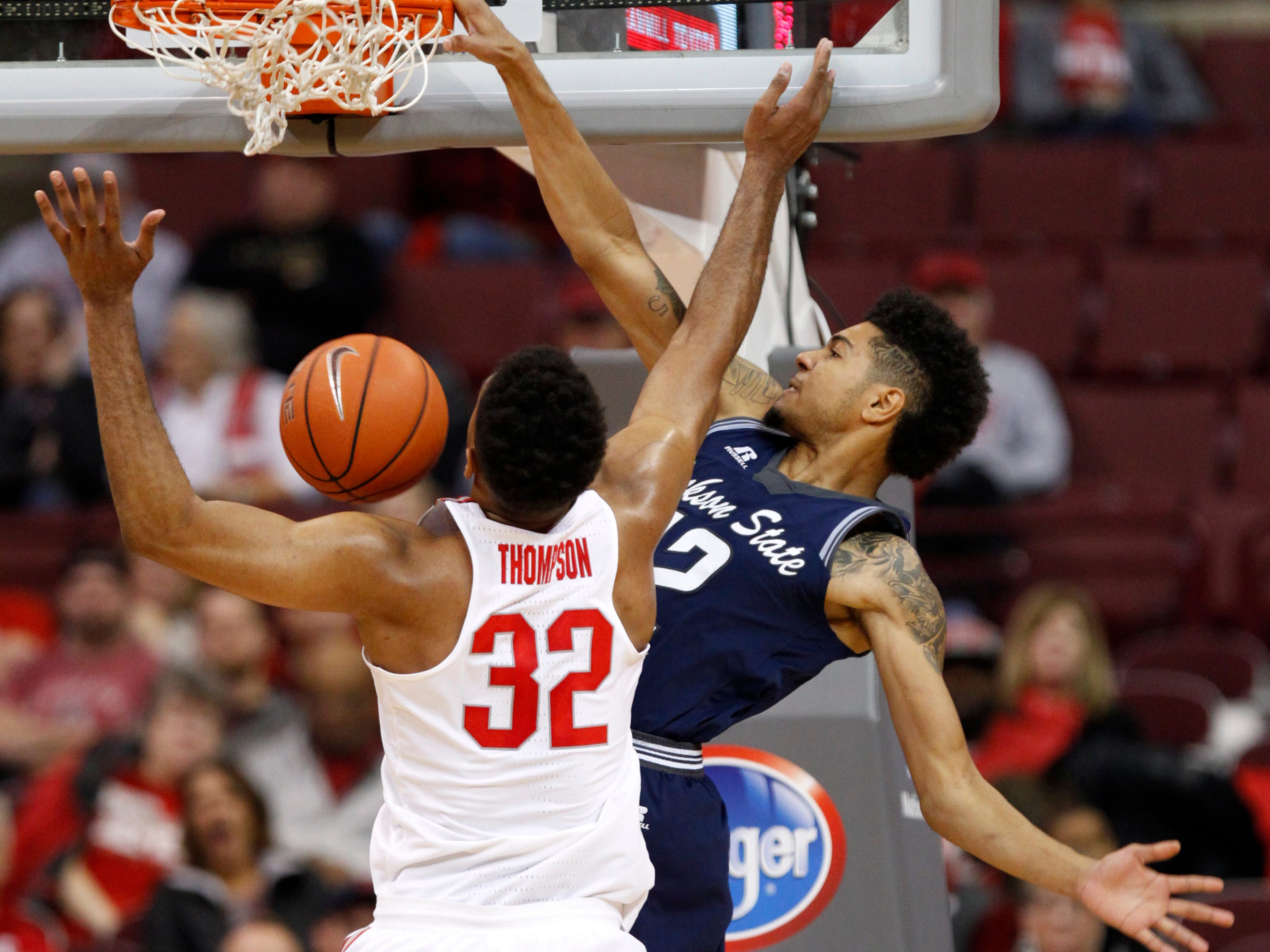 lyle leads ohio state over jackson state usa today sports jackson state forward maurice rivers right dunks against ohio state center trevor thompson during