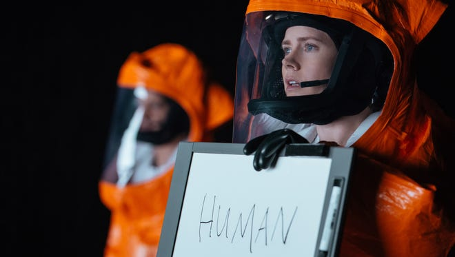 Amy Adams stars as linguistics expert Louise Banks in 'Arrival.'