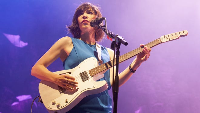 Carrie Brownstein of Sleater-Kinney is seen at the 2015 Pitchfork Music Festival.