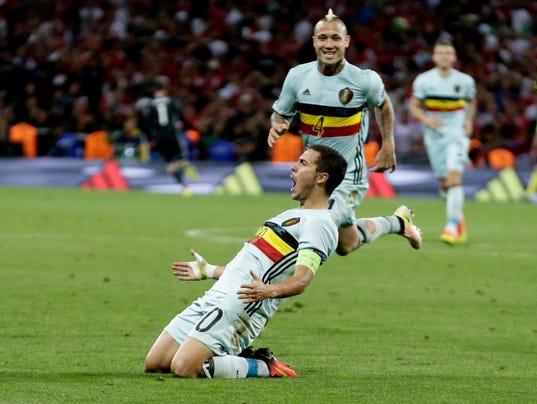 AP APTOPIX SOCCER EURO 2016 HUNGARY BELGIUM S SOC WSOC FRA