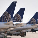 United Airlines jets are pictured at Chicago O'Hare airport on Sept. 19, 2014.