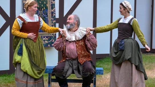 Falstaff (John Ellis) gets on the wrong side of both