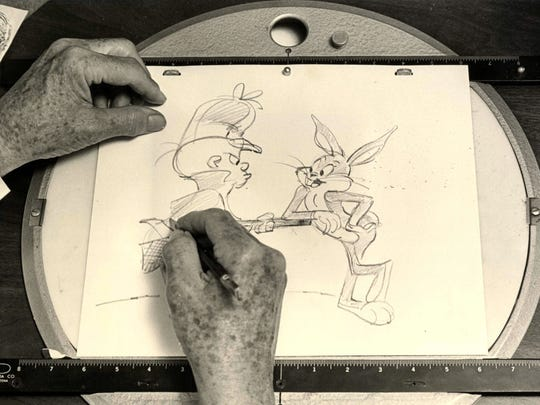 Works by iconic animator Chuck Jones, who for years drew Bugs Bunny, Elmer Fudd and many other classic Warner Bros. characters, are on display this summer at the Trout Museum of Art.