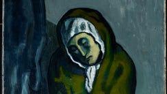 Pablo Picasso's La Miséreuse accroupie, painted in
