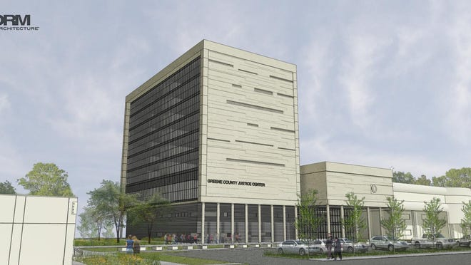 County officials say this nine-story justice center expansion, shown here in a conceptual drawing, would cost $44 million.