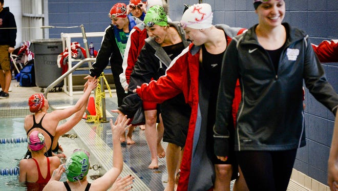 The Class 5A state swim meet is Friday and Saturday at Edora Pool Ice Center.