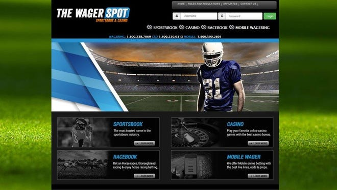 A screengrab of The Wager Spot.