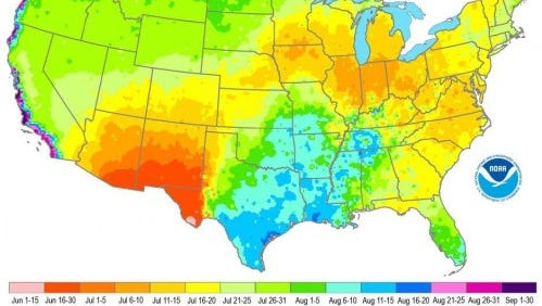 The warmest day of the year in New Jersey is from July 16 to 20