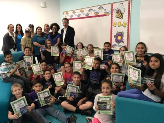 Fifth graders at two Carlsbad elementary schools participated