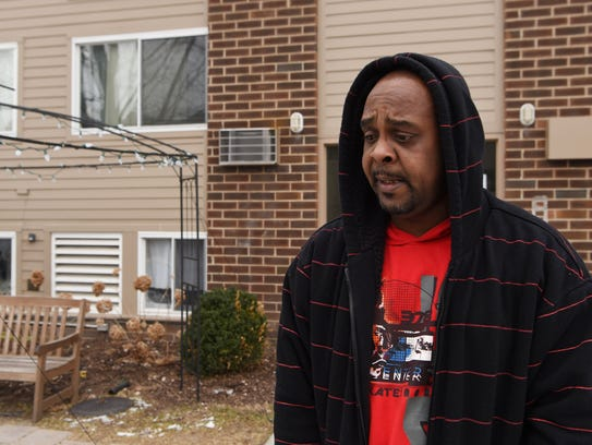 Reginald Grant, a resident of the Harriet Tubman Terrace