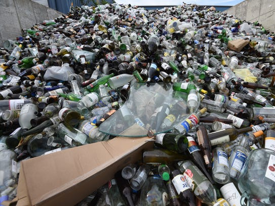 Baxter Recycling can take bottle glass, but not glass