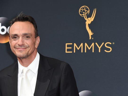 Actor Hank Azaria  arrives for the 68th Emmy Awards.