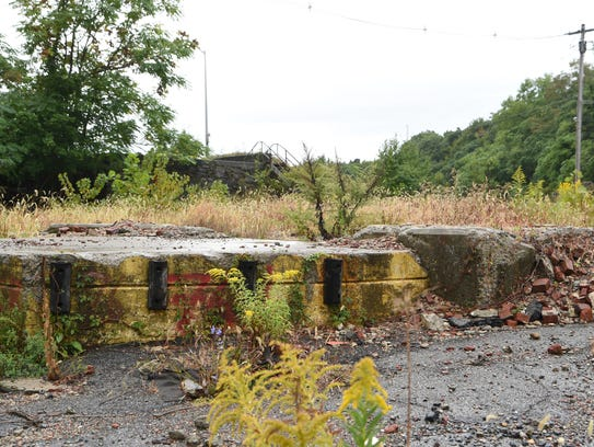 The foundation of the boiler building at the Texaco
