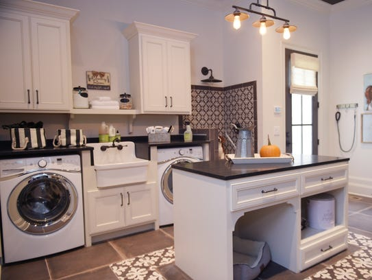 Heritage Homes model features a large laundry room, interior design Nashville, TN, design school, CIDA accredited - O'More.