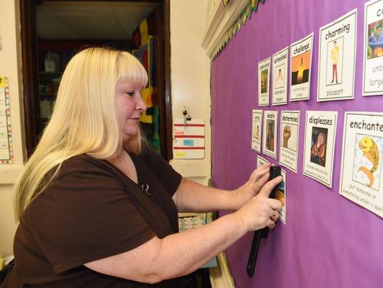 Cindy Slayton, a special education teacher at C.B.