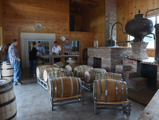 A view of the tasting room at Tuthilltown Spirits in