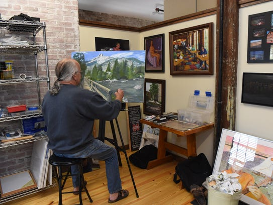 Jeff Aman, a City of Poughkeepsie-based artist, works