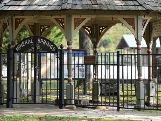 Mineral Springs Park in downtown Williamston is one of the places  that could be affected by a proposal to remove some gun restrictions on pieces of town-owned property.
