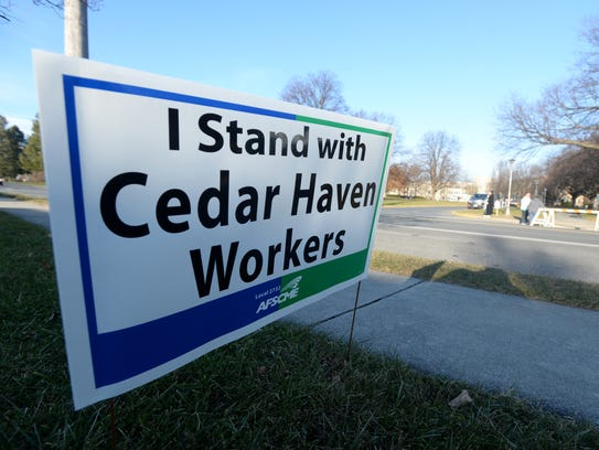 With no end in sight Cedar Haven workers continue their