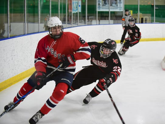 University Liggett's Caden Lewandowski (6) circles